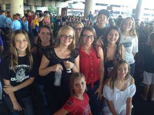 The CCJH choir sang the national anthem at Chase Field before the Diamondbacks game on Sept. 12. (Photo submitted to the CNB.)