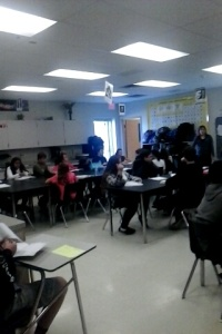 Students in Mrs. Roach's advanced science class. (Photo by Theresa VanPelt)