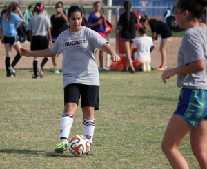 CCJH soccer players train for the upcoming season. (Photo by Julissa Caballero)