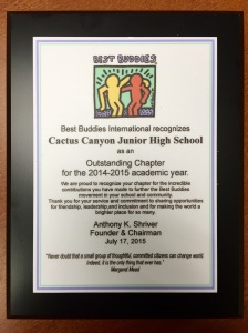 CCJHS Award from international
