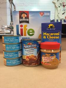 The CCJH Student Council is sponsoring a food drive for Project Help from Sept. 14-24. It is asking for donations of pasta, canned soup, canned tuna, peanut butter, and cereal.