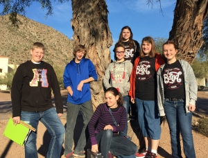 Some of Cactus Canyon's top musicians represented the school in the Pinal County Honor Band in January. (Photo by Ms. Vining)