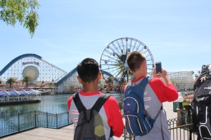 NJHS students take a photo on their trip to Disneyland. (Photo by Talon Izbicki)