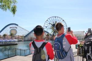 NJHS students take a photo on their trip to Disneyland. (Photo by Talon Izbicki)