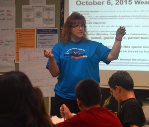 Teachers like Mrs. Wilbur-Bowers helped students prepare for the AzMERIT test by requiring them to justify their answers.