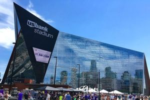 U.S. Bank Stadium, the new home of the Minnesota Vikings opened this year at a cost of $1.1 billion, half of which was covered by taxpayers. Cougar News Blog writers think there are better uses for that money. (Photo used under Creative Commons from darb02/Wikimedia Commons.)